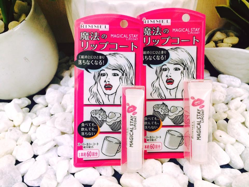 Son giữ màu Rimmel magical stay lip coat Nhật Bản
