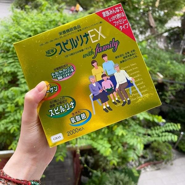 Tảo vàng cao cấp Spirulina EX Nhật Bản 2000 viên