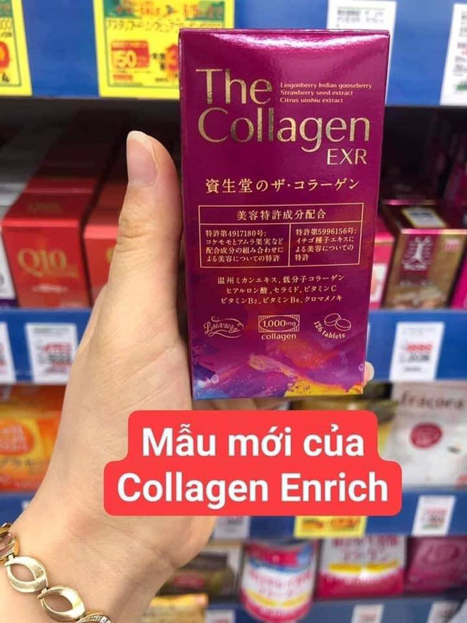 Collagen Enriched viên mẫu mới (The collagen EXR)